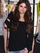 Selena Gomez leggy adidas