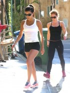 Eva Longoria cleavage on bike ride