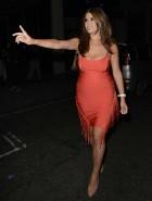 Imogen Thomas tight dress