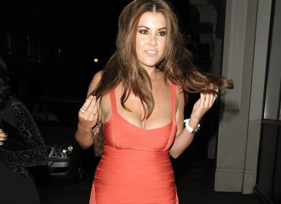 Imogen Thomas tight dress