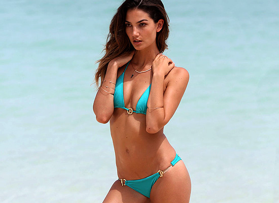 Lily Aldridge bikini photoshoot