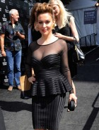 Alyssa Milano see through cleavage