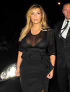 Kim Kardashian see through cleavage