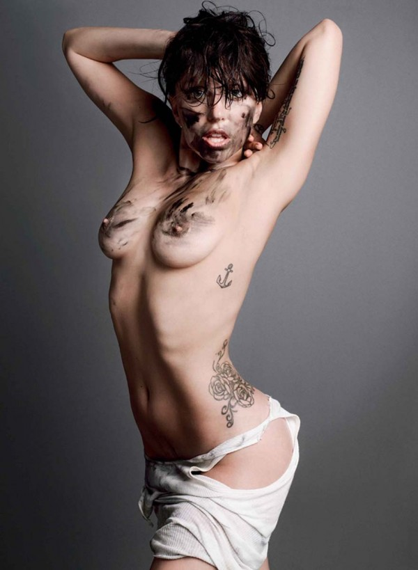 Lady Gaga nude in V Magazine
