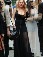 Lindsay Lohan cleavage Wendy Nichols Show