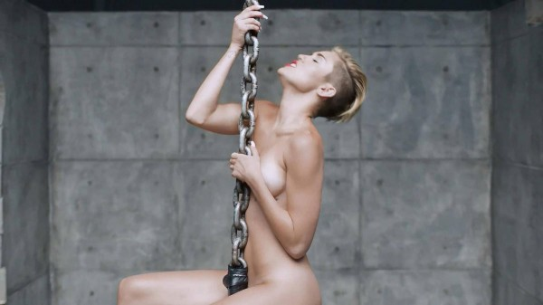 Miley Cyrus nude in Wrecking Ball
