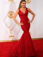 Sofia Vergara cleavage at the 65th Annual Emmy Awards