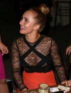 Hayden Panettiere see-thru cleavage