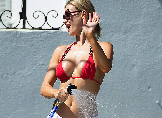 Joanna Krupa bikini car wash