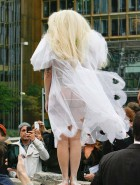 Lady Gaga nipples in see through dress