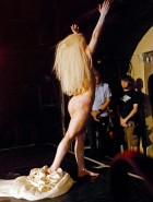 Lady Gaga nude on stage