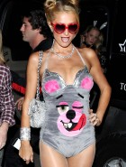 Paris Hilton as Miley Cyrus