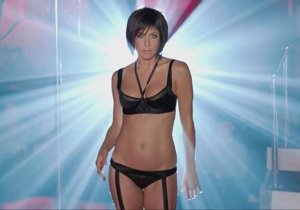 Jennifer Aniston see-thru lingerie in 'We're The Millers