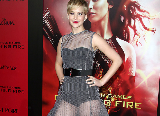Jennifer Lawrence The Hunger Games Catching Fire premiere