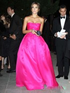 Jessica Alba hot pink dress