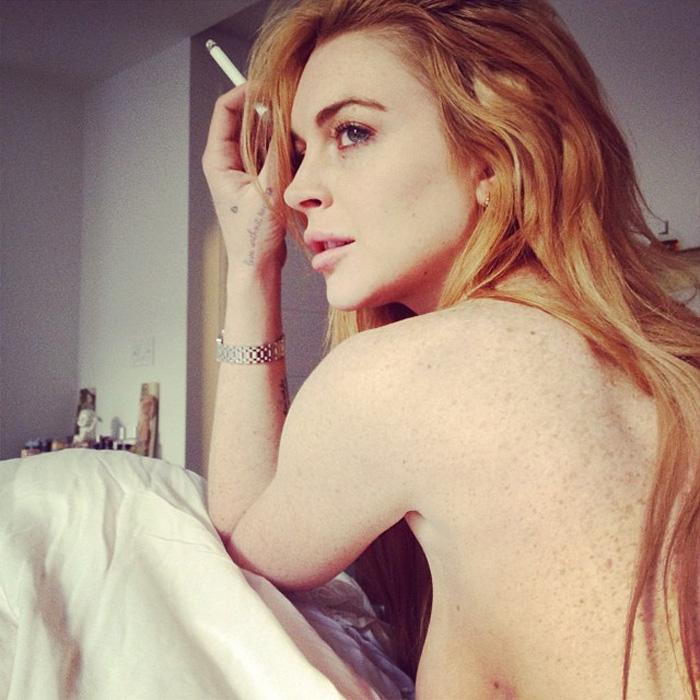 topless instagram lohan Lindsay