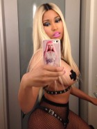 Nicki Minaj topless with pasties Halloween costume