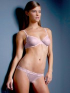 Nina Agdal topless lingerie pictures