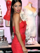 Adriana Lima red dress