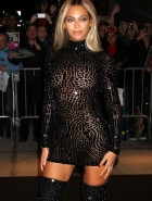 Beyonce tight dress for new album release party