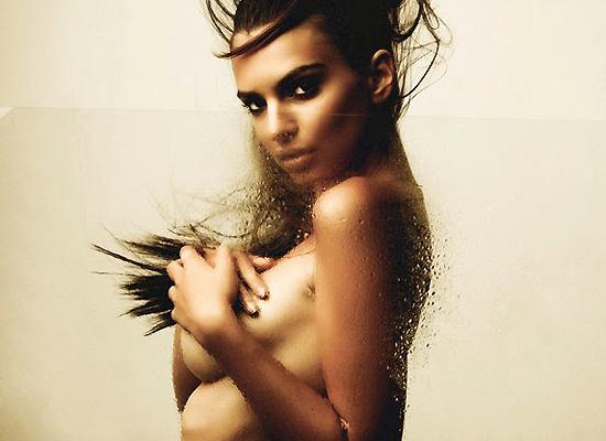 Emily Ratajkowski nude shower photoshoot