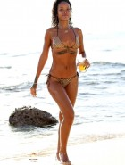 Rihanna gold bikini in Barbados