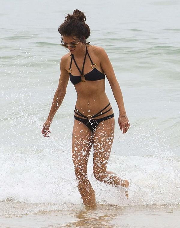 Annalynne mccord white bikini