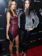 Adriana Lima and Alessandra Ambrosio at 'Leather & Laces' Party