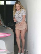 Hilary Duff short skirt