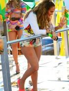 Jennifer Lopez booty cheeks