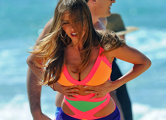 Sofia Vergara boobs in swimsuit