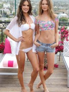 Alessandra Ambrosio and Behati Prinsloo Victoria's Secret Swim Collection Press Day