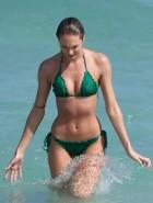Candice Swanepoel Green Bikini