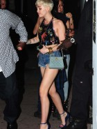 Miley Cyrus denim shorts