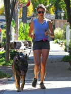 Nikki Reed jogging