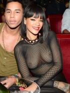 Rihanna see-thru top