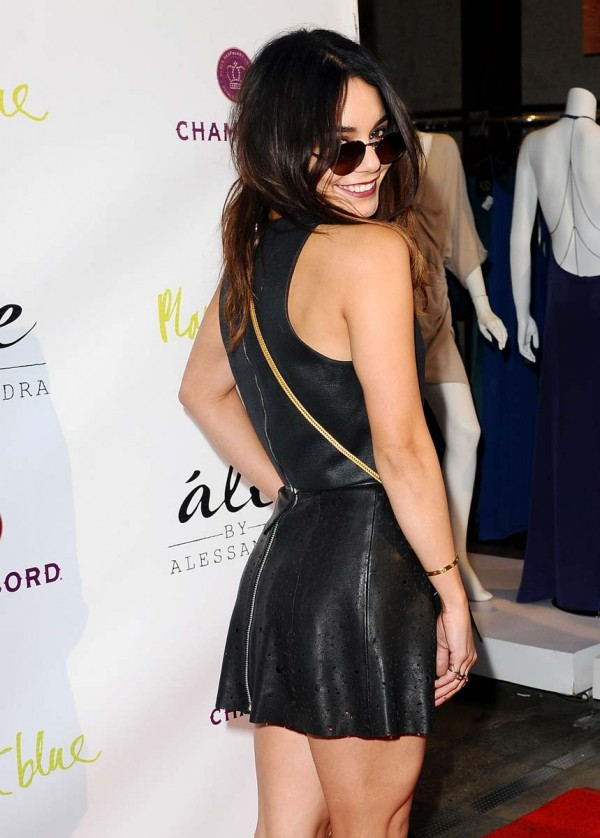 Sexy vanessa hudgens leather