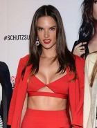 Alessandra Ambrosio red hot cleavage