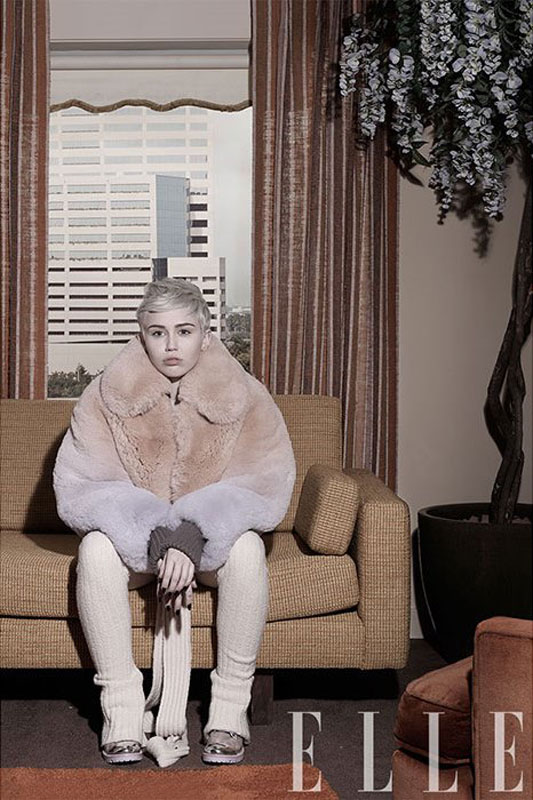 Miley Cyrus Elle Magazine
