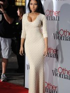 Nicki Minaj cleavage at The Other Woman premiere