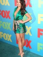 Lea Michele braless