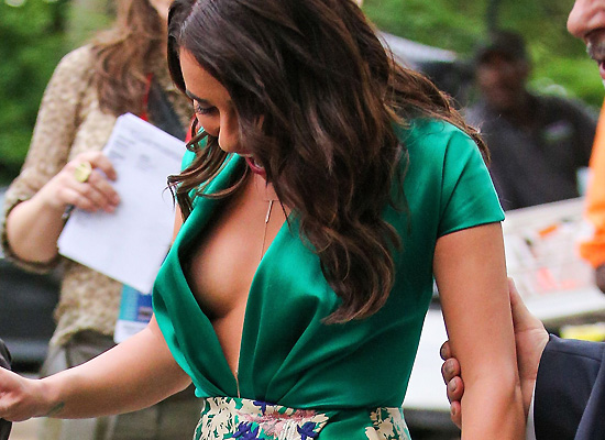 Lea Michele nipple slip