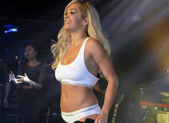 Rita Ora bra and panties