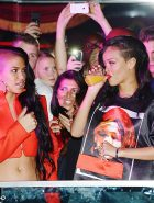 Cassie And Rihanna drinking