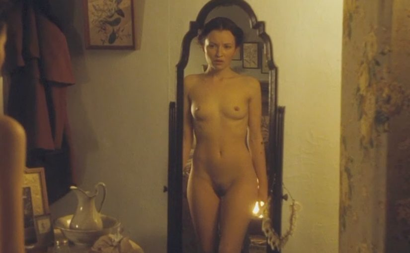 Emily Browning Nude Boobs And Hairy Bush in February Movie