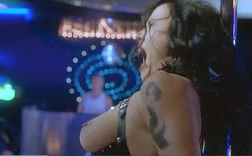 Jennifer Tilly Nude Boobs In Pole Dance Scene In Dancing At The Blue Iguana Movie